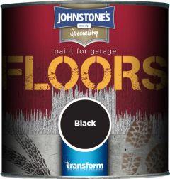Johnstone's Garage Floor Paint Semi Gloss 250Ml Black