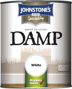 Johnstone's Paint To Cover Damp 750Ml White