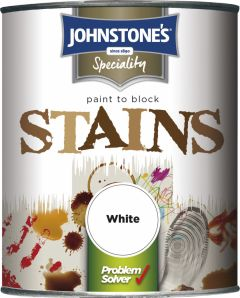 Johnstone's Paint To Block Stains 750Ml White