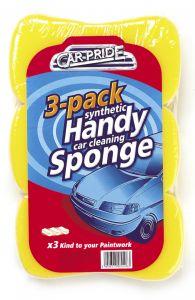 Car Pride Handy Car Sponges Pack 3