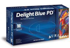 Aurelia Vinyl Sky Blue Disposable Gloves Medium