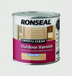 Ronseal Crystal Clear Outdoor Varnish 250Ml Satin