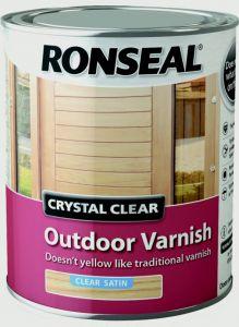 Ronseal Crystal Clear Outdoor Varnish 750Ml Satin