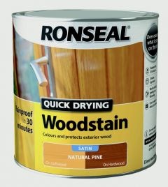 Ronseal Quick Drying Woodstain Satin 2.5L Natural Pine