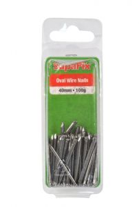 Supafix Oval Wire Nails 40Mm 100G