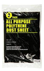 Supadec 3 Piece Clear Dust Sheet 12 X 9'