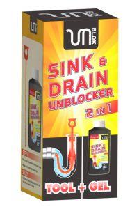 Unblok Sink & Drain Unblocker 2 In 1Kit 500Ml