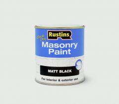 Rustins Masonry Paint 500Ml Black