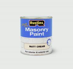 Rustins Masonry Paint 250Ml Cream