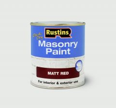 Rustins Masonry Paint 500Ml Red