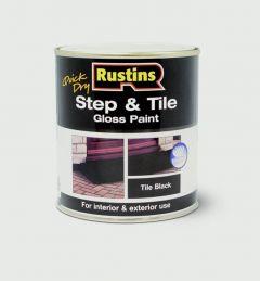 Rustins Quick Drying Step Tile Black 250Ml