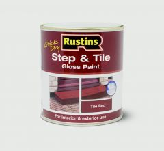 Rustins Quick Drying Step Tile Red 500Ml