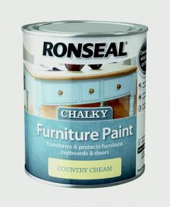 Ronseal Chalky Furniture Paint 750Ml Country Cream