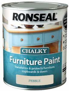 Ronseal Chalky Furniture Paint 750Ml Pebble