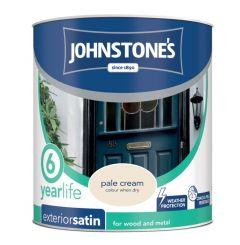 Johnstone's Exterior Quick Dry Satin 750Ml Pale Cream