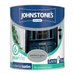 Johnstone's Exterior Quick Dry Satin 750Ml Ashford Grey