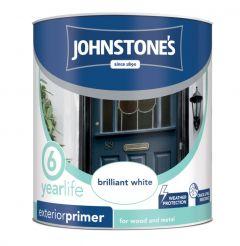 Johnstone's Exterior Primer Undercoat 750Ml Brilliant White