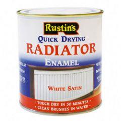 Rustins Radiator Enamel Satin 500Ml