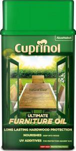 Cuprinol Ultimate Furniture Oil 1L Mahogany
