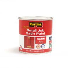 Rustins Qd Small Job Satin 250Ml Poppy
