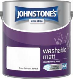 Johnstone's Washable Matt 2.5L Brilliant White