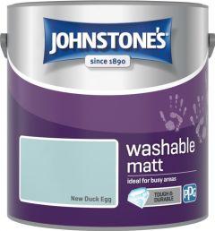 Johnstone's Washable Matt 2.5L New Duck Egg