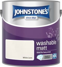 Johnstone's Washable Matt 2.5L White Lace