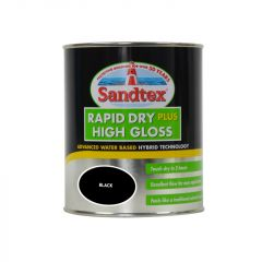 Sandtex Rapid Dry Gloss 750Ml Black