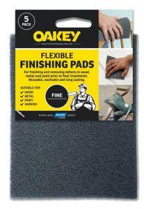 Oakey Flexible Finishing Pads Grey Pack 5