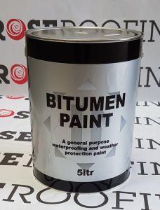 Rose Roofing Black Bitumen Paint 5L