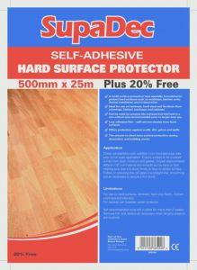 Supadec Hard Floor Protector Film Plus 20% Extra 500X25