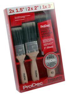 Rodo Trojan Brush Set With Free 2 Woodworker 5 Piece