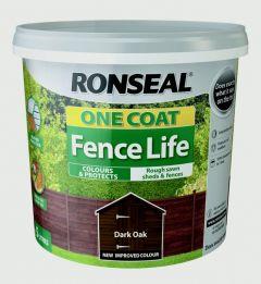 Ronseal One Coat Fence Life 5L Dark Oak