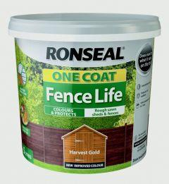 Ronseal One Coat Fence Life 5L Harvest Gold