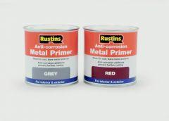 Rustins Anti-Corrosion Metal Primer 500Ml Grey