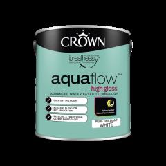 Crown Aquaflow Gloss 2.5L Pure Brilliant White
