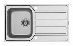 Pyramis Athena Stainless Steel Single Bowl Inset Sink 860 X 500Mm