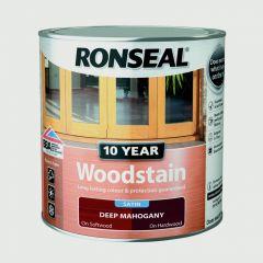 Ronseal 10 Year Woodstain Satin 250Ml Deep Mahogany