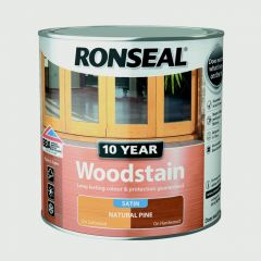 Ronseal 10 Year Woodstain Satin 250Ml Natural Pine