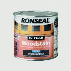 Ronseal 10 Year Woodstain Satin 250Ml Smoked Walnut