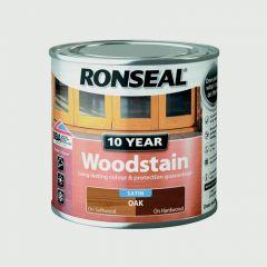 Ronseal 10 Year Woodstain Satin 250Ml Oak