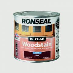 Ronseal 10 Year Woodstain Satin 250Ml Teak