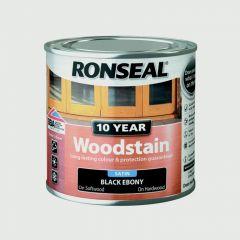 Ronseal 10 Year Woodstain Satin 250Ml Ebony