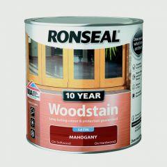 Ronseal 10 Year Woodstain Satin 750Ml Mahogany