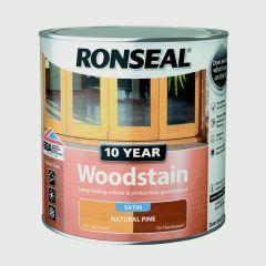 Ronseal 10 Year Woodstain Satin 750Ml Natural Pine