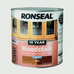 Ronseal 10 Year Woodstain Satin 750Ml Oak
