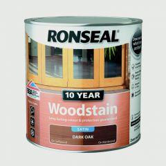 Ronseal 10 Year Woodstain Satin 750Ml Dark Oak