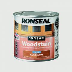 Ronseal 10 Year Woodstain Satin 750Ml Natural Oak