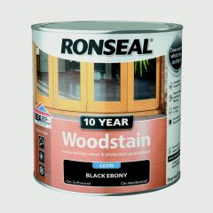 Ronseal 10 Year Woodstain Satin 750Ml Ebony