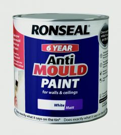 Ronseal 6 Year Anti Mould Paint 2.5L White Matt